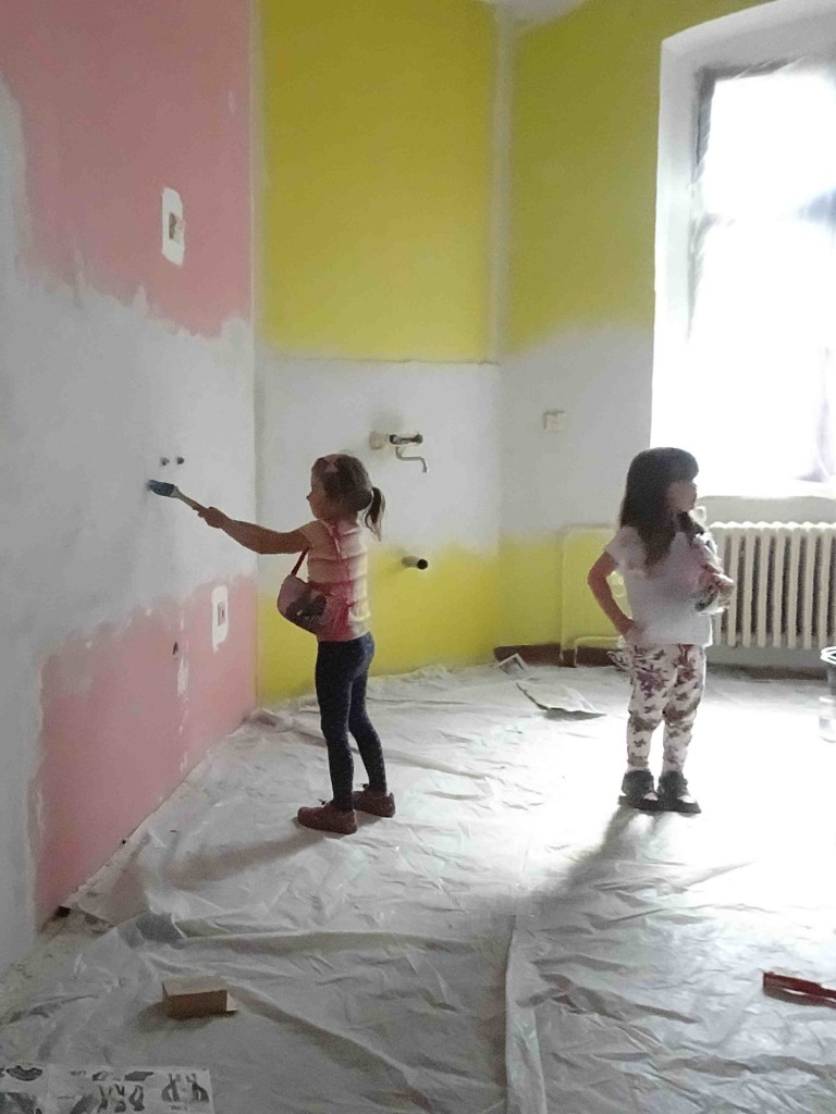 Montessori klub v Příbrami v průběhu rekonstrukce