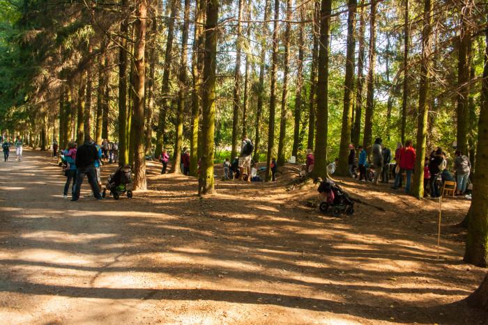 Návštevníci rodinného dne v lesoparku Litavka